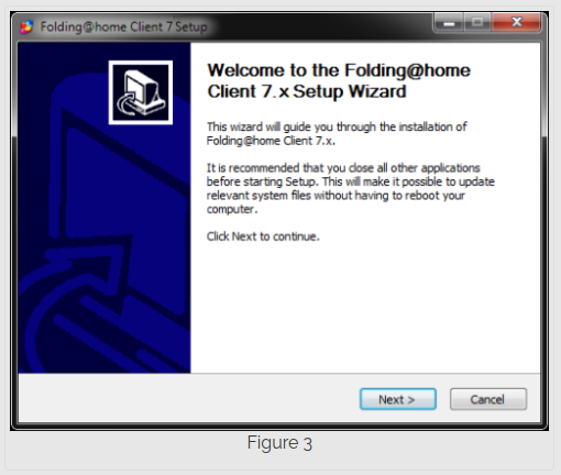 Step 3 installing Folding@Home on Windows