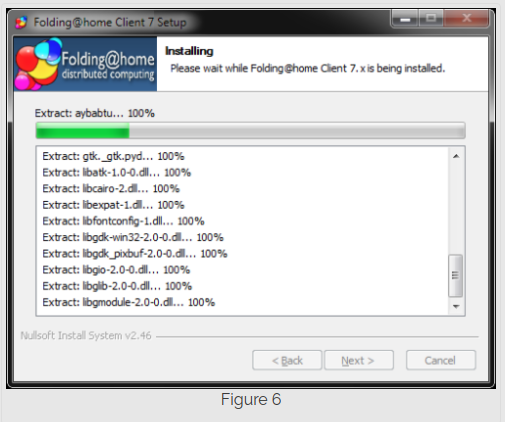 Step 6 installing Folding@Home on Windows