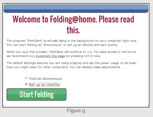 Step 9 installing Folding@Home on Windows